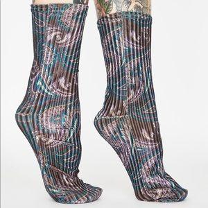NWT Free People Trixie Velvet Socks